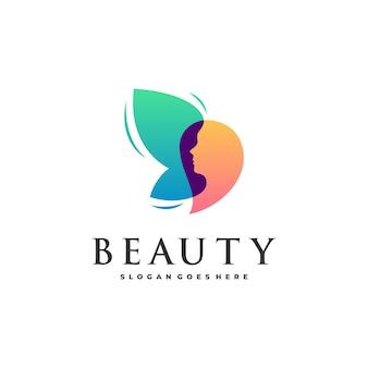 Abstracte schoonheidsvrouwen en vlinder