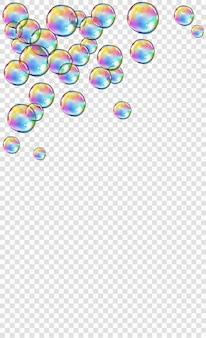 Abstracte schuim zeep water bubbels geïsoleerd op blauwe achtergrond