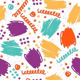 Abstracte semless patroon achtergrond. handgemaakt doodle naadloos patroon voor ontwerpkaart, uitnodiging, t-shirt, boek, spandoek, poster, plakboek, album, textielstof, kledingstuk, tasafdruk enz.