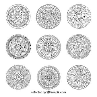 Abstracte sier cirkels