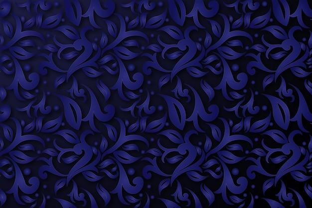 Abstracte sierbloemen blauwe achtergrond