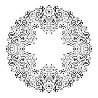 Abstracte sierlijke mandala.
