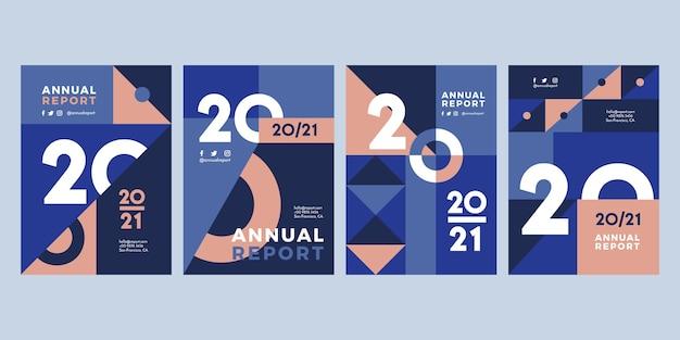 Abstracte sjablonen voor jaarverslag 2020-2021