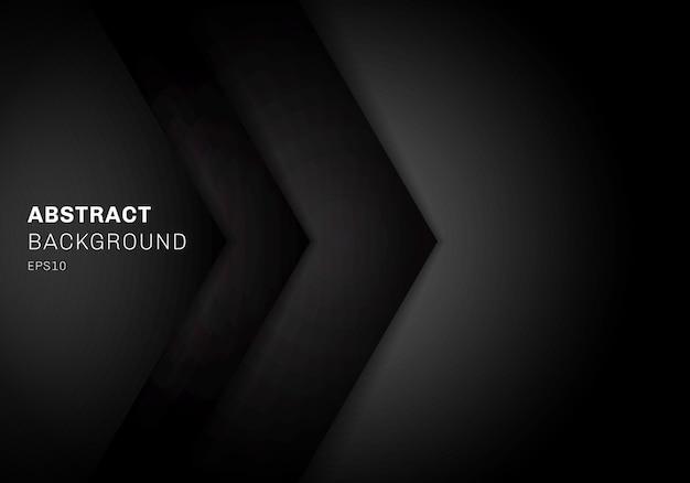 Abstracte sjabloon 3d-driehoek zwarte achtergrond.