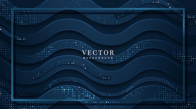 Abstracte sjabloon donker blauwe luxe premium achtergrond