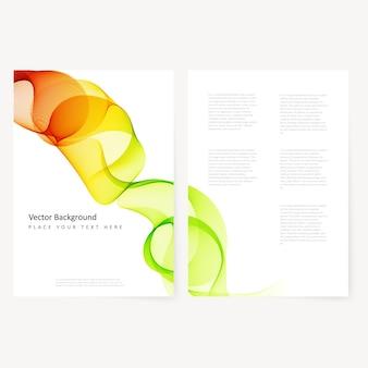 Abstracte sjabloon kleur flyer
