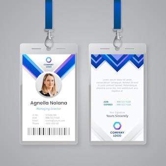 Abstracte sjabloon voor identiteitskaarten met foto