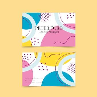Abstracte sjabloon voor visitekaartjes