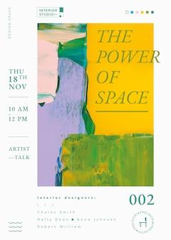 Abstracte sjabloonvector, interieuradvertentie voor poster