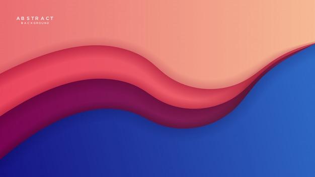 Abstracte slijm papercut achtergrond