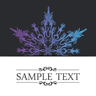 Abstracte sneeuwvlok illustratie kaart. creatieve en luxe begroetingsafbeelding in gradiëntstijl