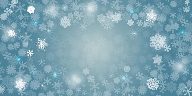 Abstracte sneeuwvlokkenachtergrond