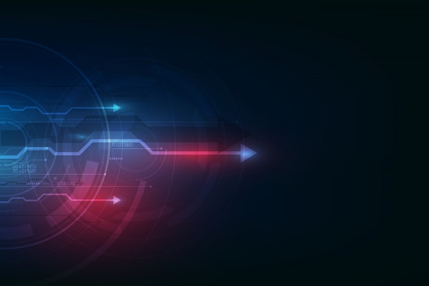 Abstracte snelheid technische achtergrond