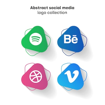 Abstracte sociale media-logo collectie