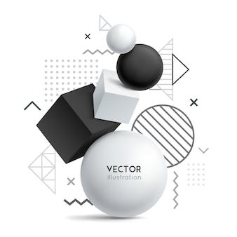 Abstracte solide geometrie achtergrond Gratis Vector