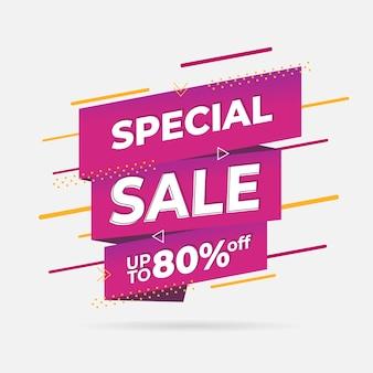 Abstracte speciale verkoop promotie banner