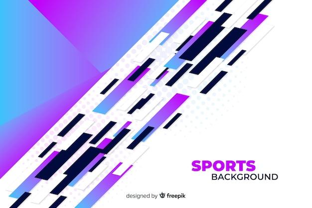 Abstracte sportachtergrond in purpere en witte schaduwen
