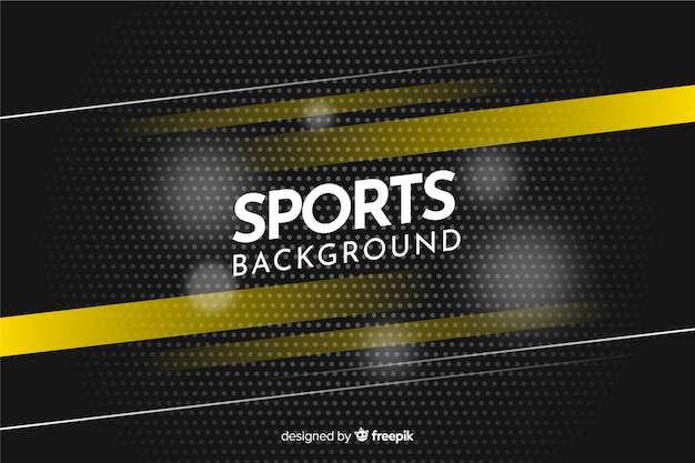Abstracte sportachtergrond met gele strepen