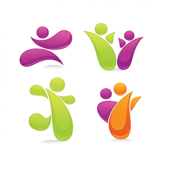 Abstracte sportieve mensen symbolen