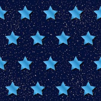 Abstracte ster naadloze patroon achtergrond. blauwe gradiënt gekleurde ster voor ontwerpkaart, uitnodiging, t-shirt, boek, spandoek, poster, plakboek, album, textielstof, kledingstuk, tasafdruk enz.
