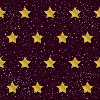 Abstracte ster naadloze patroon achtergrond. gouden gradiënt gekleurde ster voor ontwerpkaart, uitnodiging, t-shirt, boek, spandoek, poster, plakboek, album, textielstof, kledingstuk, tasafdruk enz.