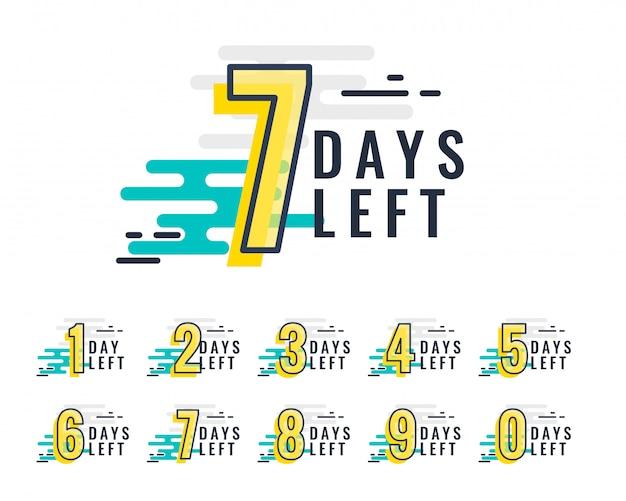 Abstracte stijl aantal resterende dagen promotionele baner
