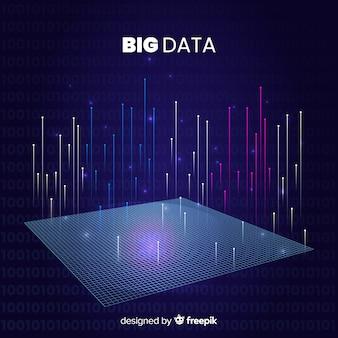 Abstracte stijl big data-achtergrond