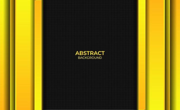 Abstracte stijl gradiënt helder geel achtergrondontwerp