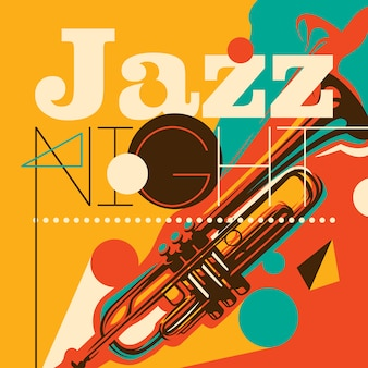 Abstracte stijl jazz achtergrond in kleur