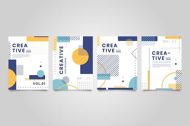 Abstracte stijl kleurrijke covers
