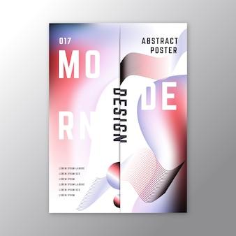 Abstracte stijl kleurrijke poster