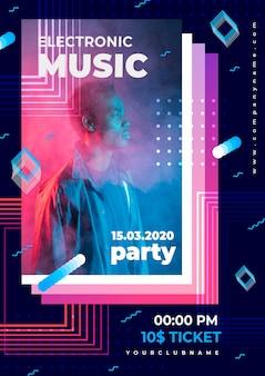 Abstracte stijl muziek poster