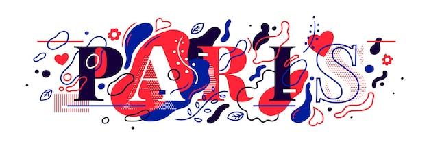 Abstracte stijl parijs bannerontwerp
