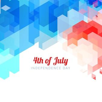 Abstracte stijl vierde van juli achtergrond