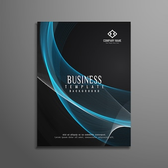Abstracte stijlvolle golvende zakelijke brochure achtergrond