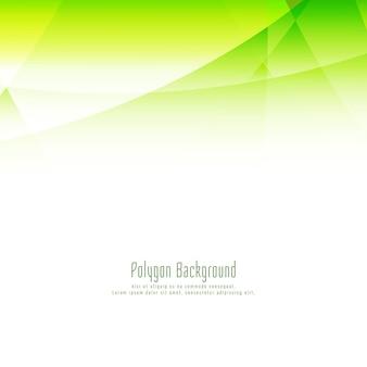 Abstracte stijlvolle groene veelhoek ontwerp elegante achtergrond