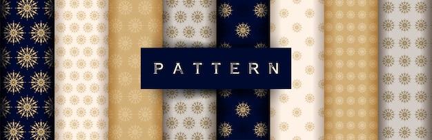 Abstracte stijlvolle traditionele naadloze patroon set