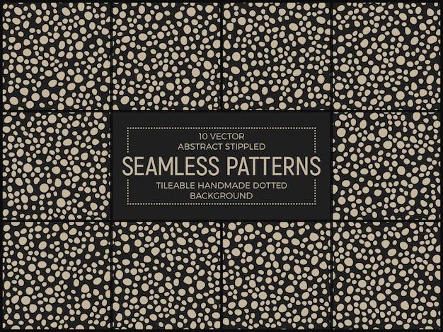 Abstracte stippen gestippelde naadloze patronen