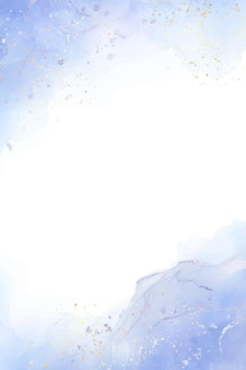 Abstracte stoffige blauwe vloeibare aquarel achtergrond