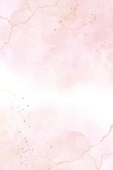 Abstracte stoffige blos vloeibare aquarel achtergrond met gouden crackers