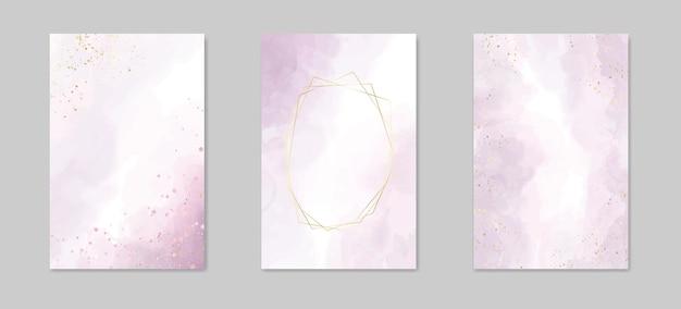 Abstracte stoffige lavendel vloeibare aquarel achtergrond