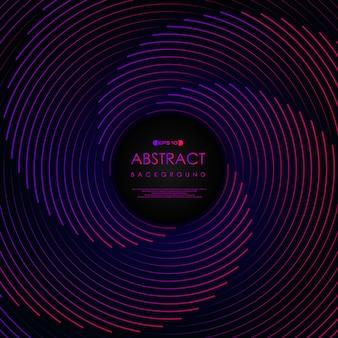Abstracte streep lijn patroon kleur lijn swirl artwork achtergrond. Premium Vector
