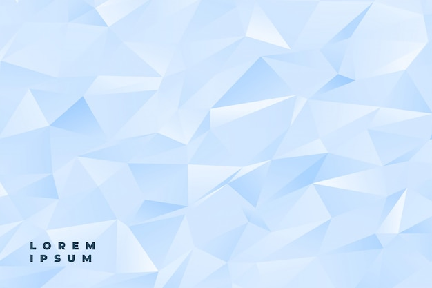 Abstracte subtiele lichtblauwe of witte lage polyachtergrond