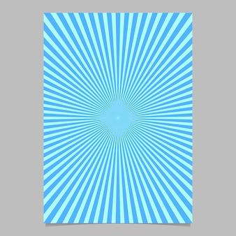 Abstracte sunburst brochure ontwerpsjabloon