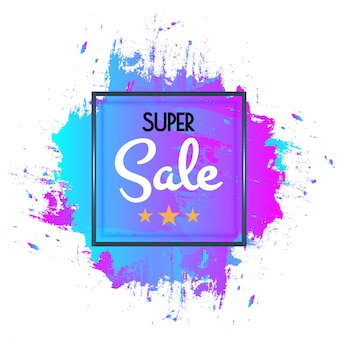 Abstracte super verkoopaffiche