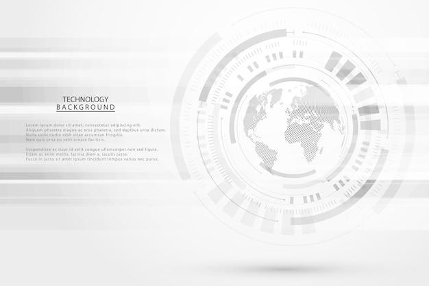 Abstracte technische achtergrond hi-tech communicatie concept futuristische digitale innovatie achtergrond voor wereldwijde web, verbinding, wetenschap.