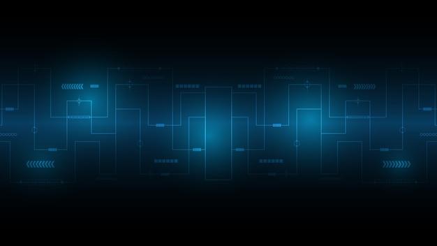 Abstracte technische achtergrond, hi-tech communicatie concept innovatie achtergrond, wetenschap en technologie digitale blauwe achtergrond
