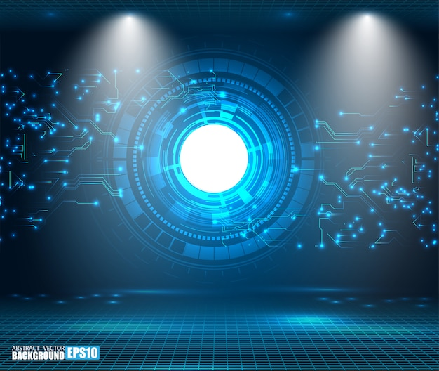 Abstracte technische achtergrond hi-tech communicatie concept