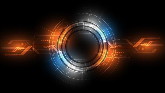 Abstracte technische achtergrond hi-tech communicatieconcept