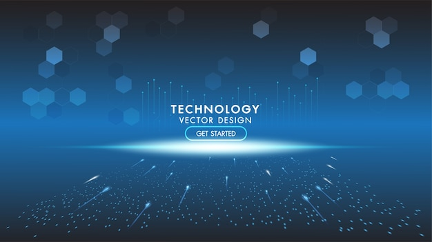 Abstracte technische achtergrond hitech communicatie concept technologie digitale zaken